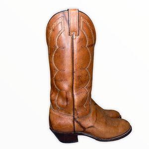 Vintage Wrangler Men's Leather Boots - 8.5D